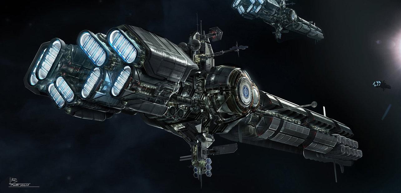 Nave espacial modelada y texturizada