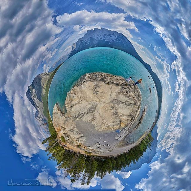 Banff planet #banff #lake #canada #bluelake #minnewankalake #littleplanet #planet #rockymountains #lakeshore