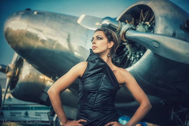 Vintage Aviation shot done some time ago. #airplane #vintageplane #aviation #model #photoshot #pinupgirl #vintagepinupgirl #fashion #jupiter3 #pinupworship