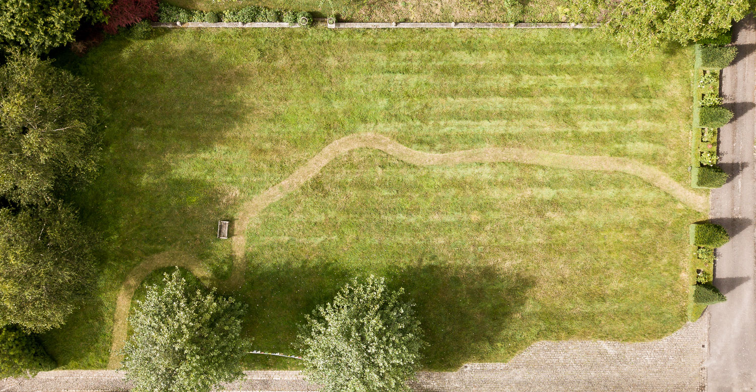 a path made by mowing -