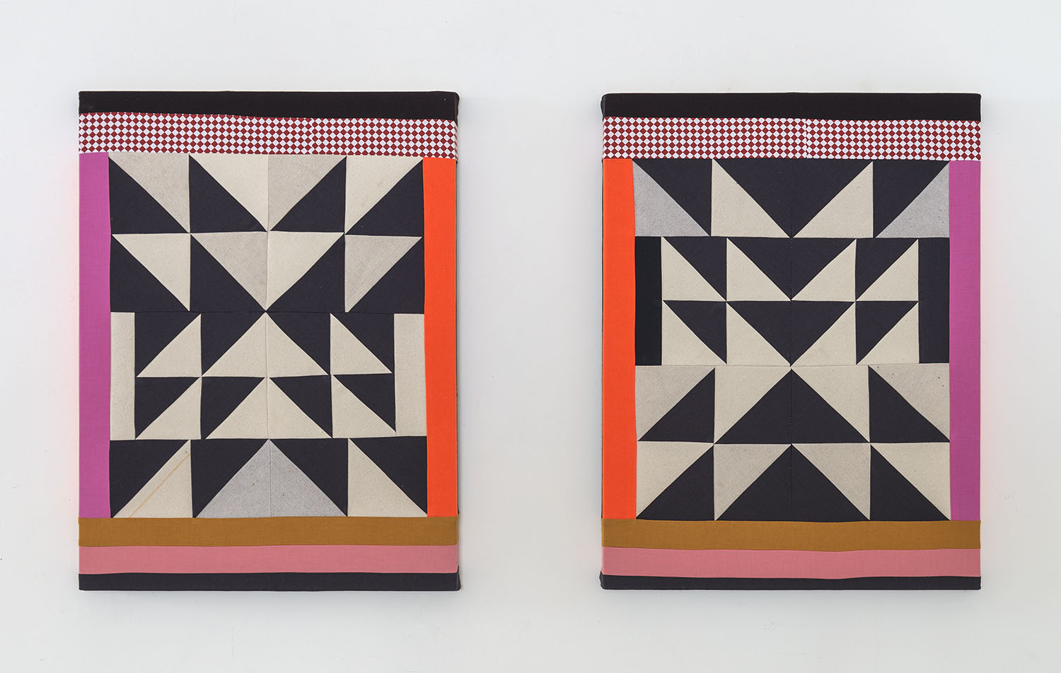 Lucky Star (Diptych)  , 2018 Sewn cotton, canvas, colored pencil 24 x 18 inches each (61 x 45.7 cm each)