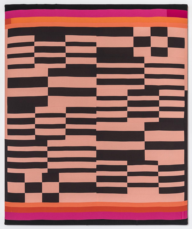 Sunset Boulevard,   2019 Sewn cotton, corduroy, canvas 54 x 45 inches (137.2 x 114.3 cm)