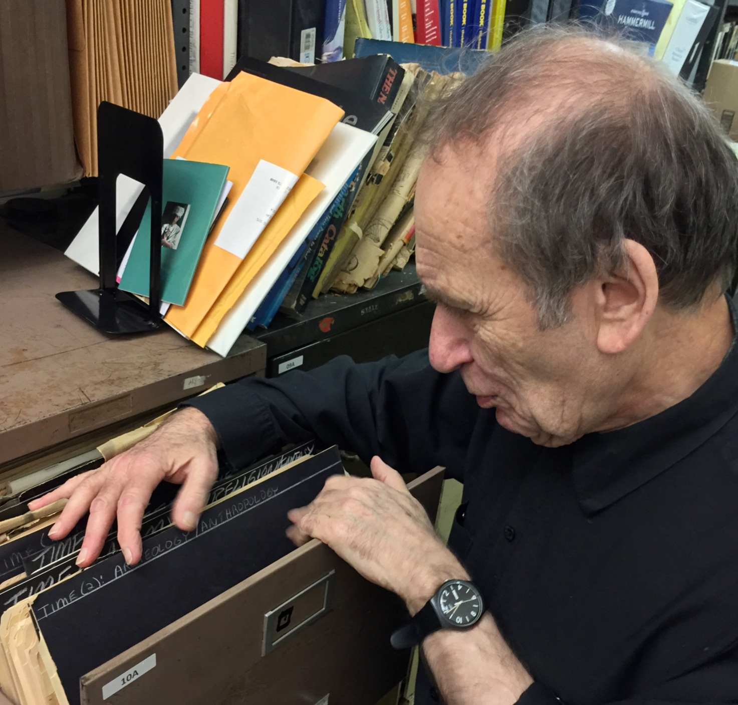 The late Vito Acconci in his archives.