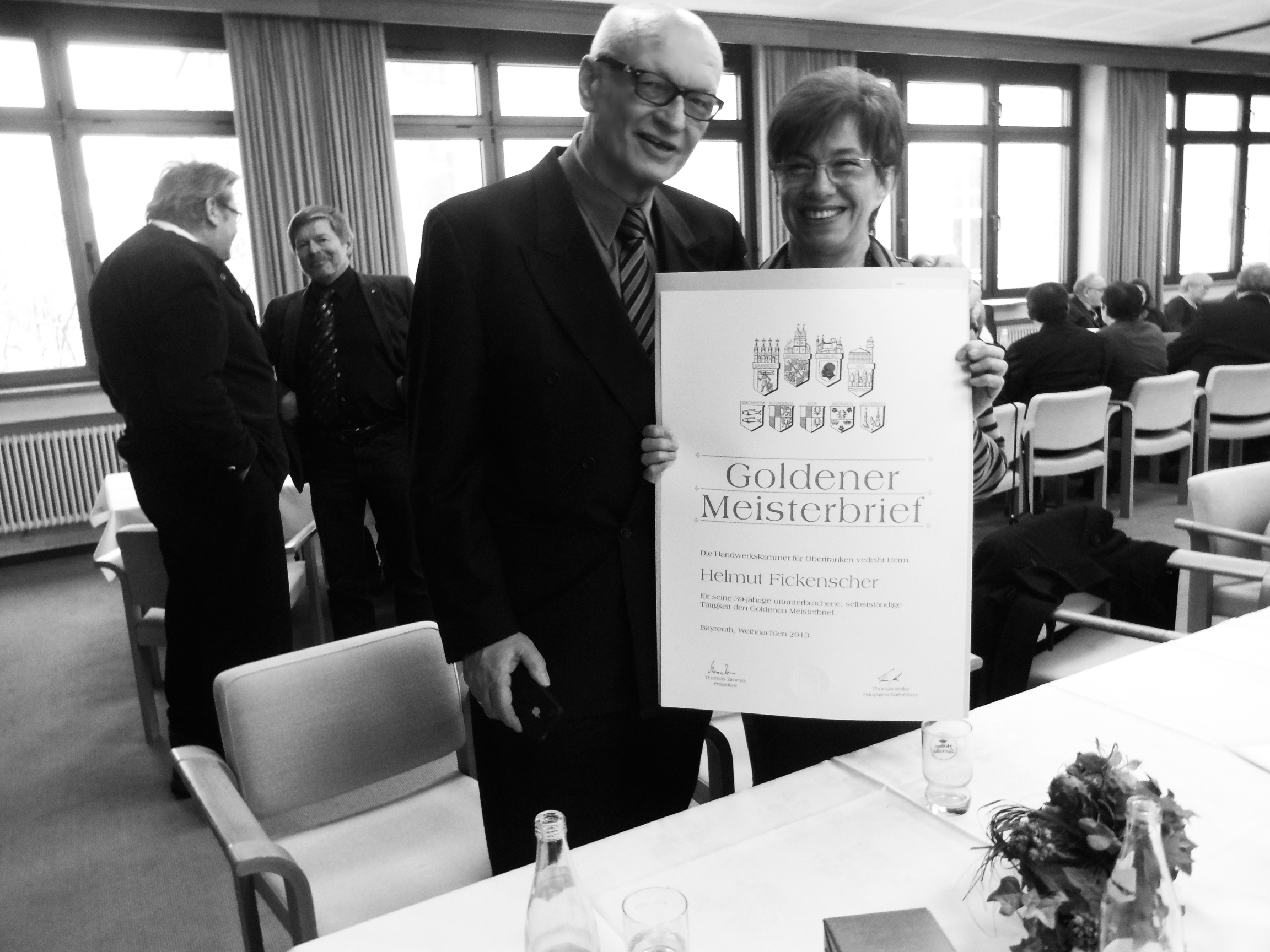 Lernen von den Besten.  Helmut & Marga Fickenscher, Senior Chefs