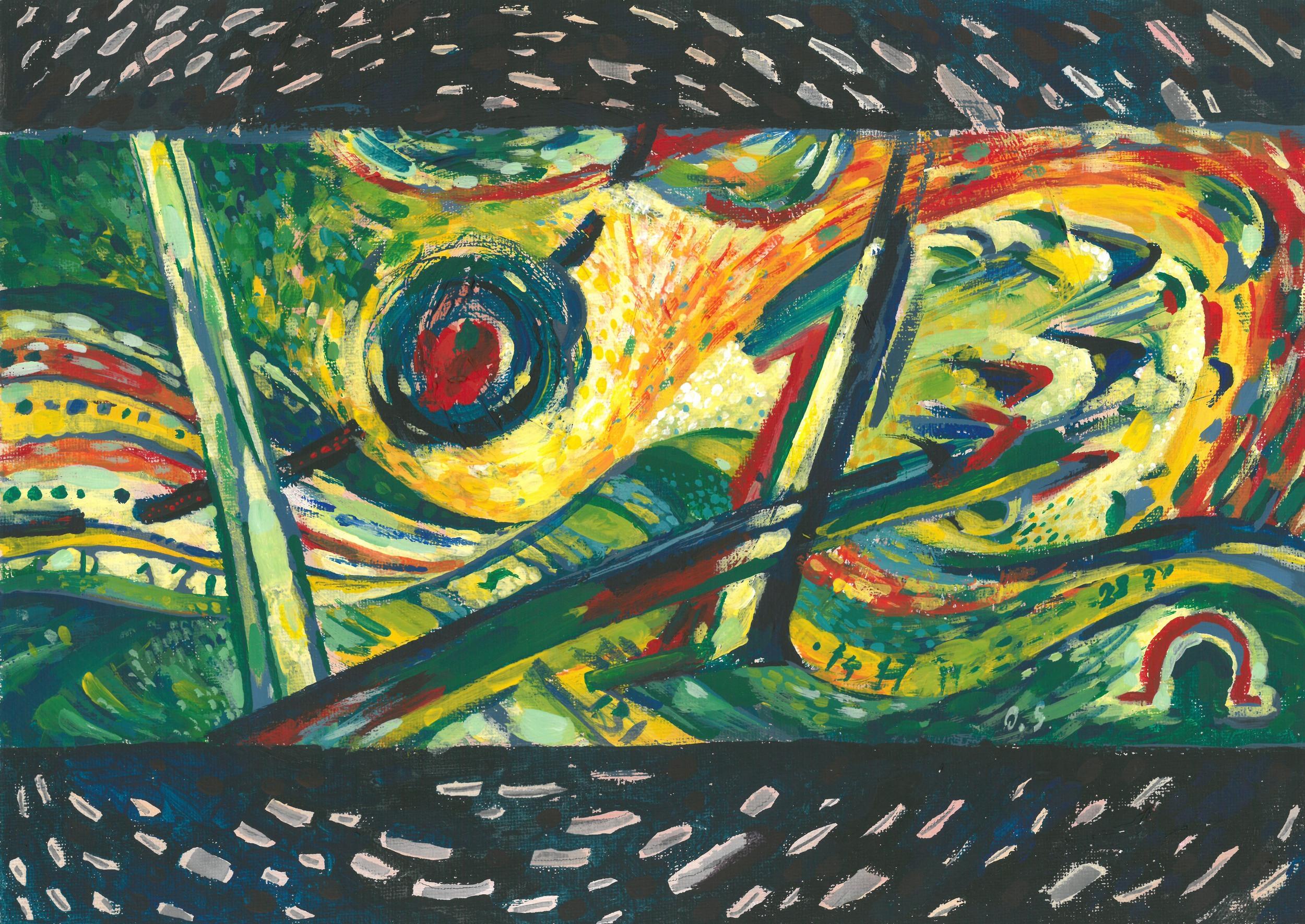 Science, acrylic on canvas, 35x25 cm