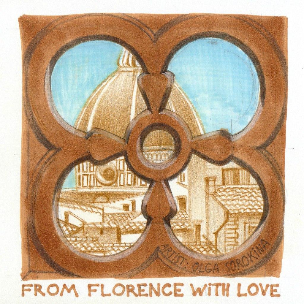 Флоренция рисунок