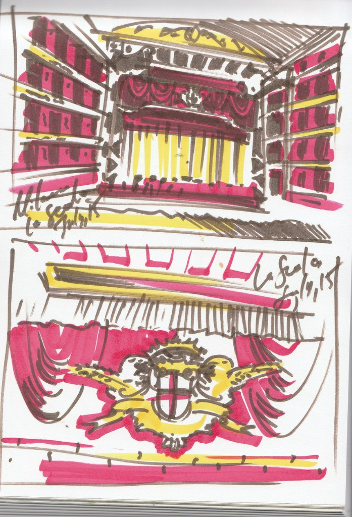 Ла скала Милан рисунок
