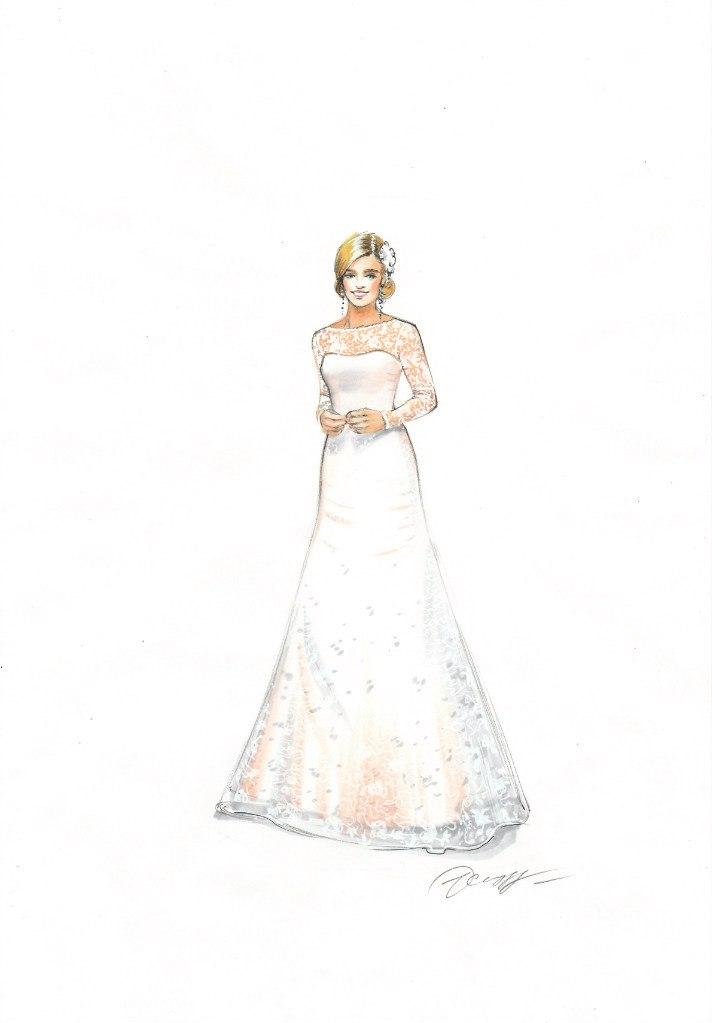 Fashion sketch by Olga Sorokina