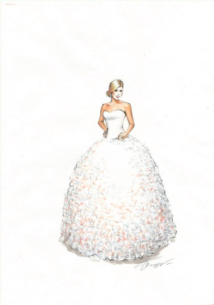 Fashion sketch for Rikke Gudnitz