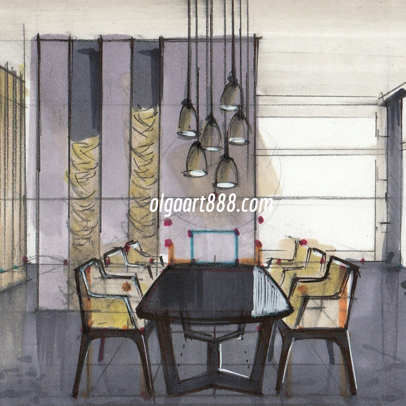 Interior Design Drawing With Markers My Video Courses Book
