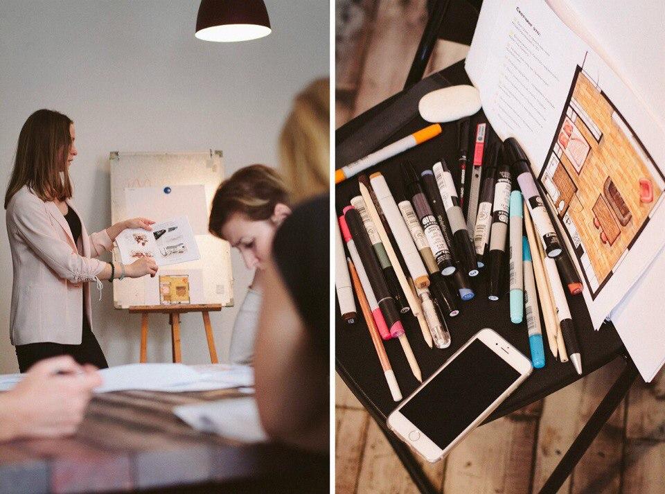 freehand sketch interior designer