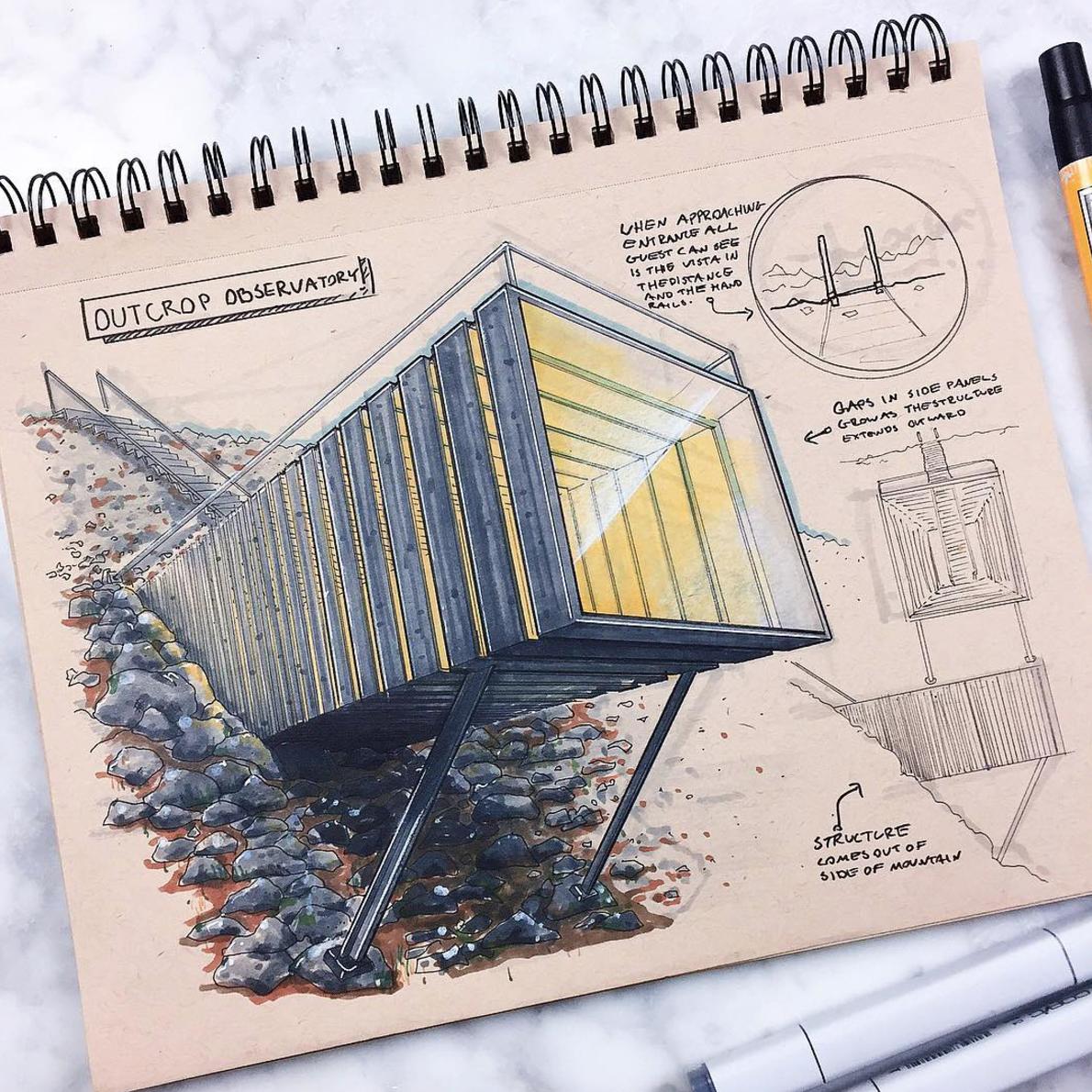 Industrial design drawing Reid Schlegel