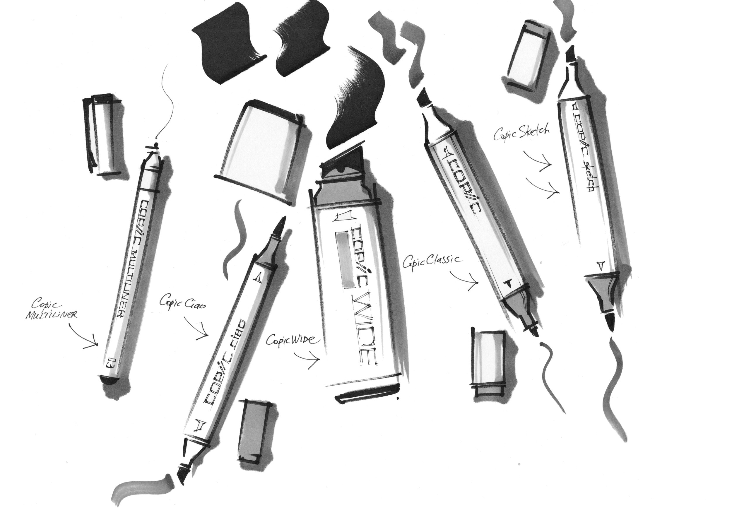 interior sketch markers