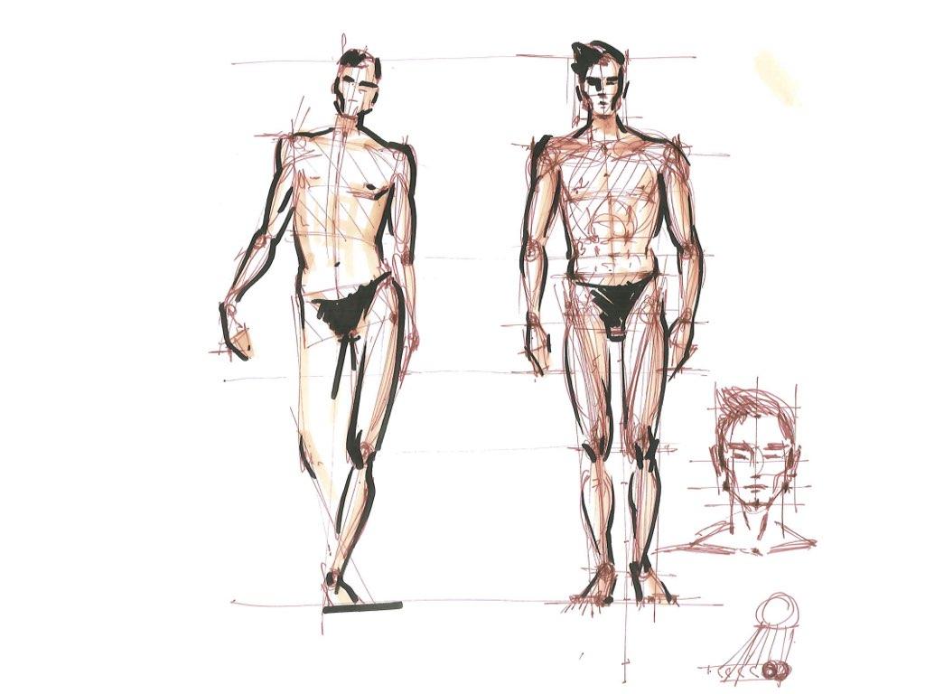 как нарисовать мужскую фигуру фэшн