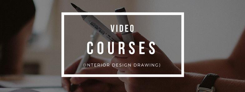 Interior design drawing sketch course