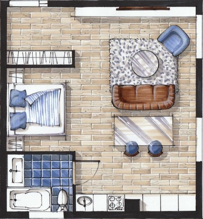 Скетч план квартиры