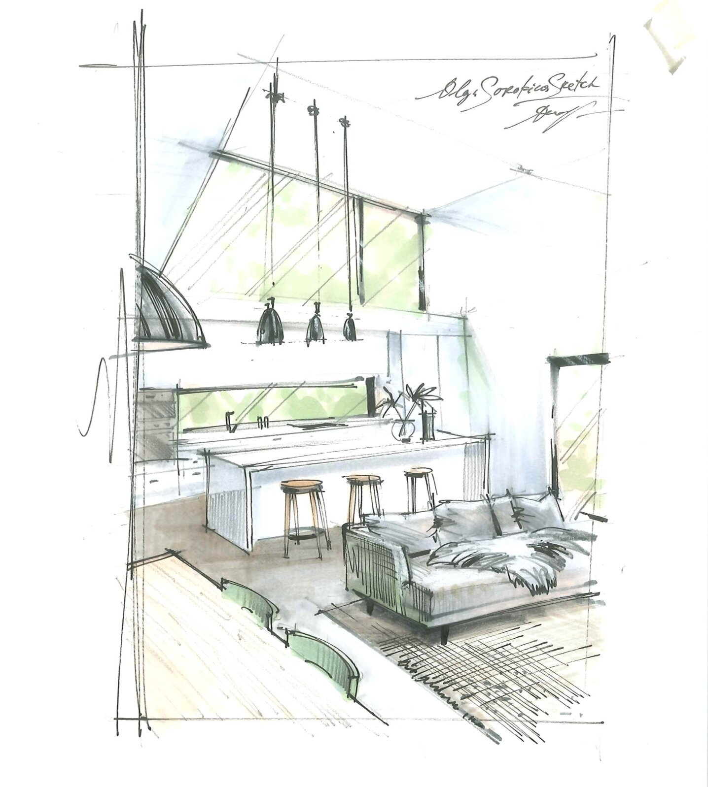 11 Reasons Why Interior Designers And Architects Sketch School Of Sketching By Olga Sorokina
