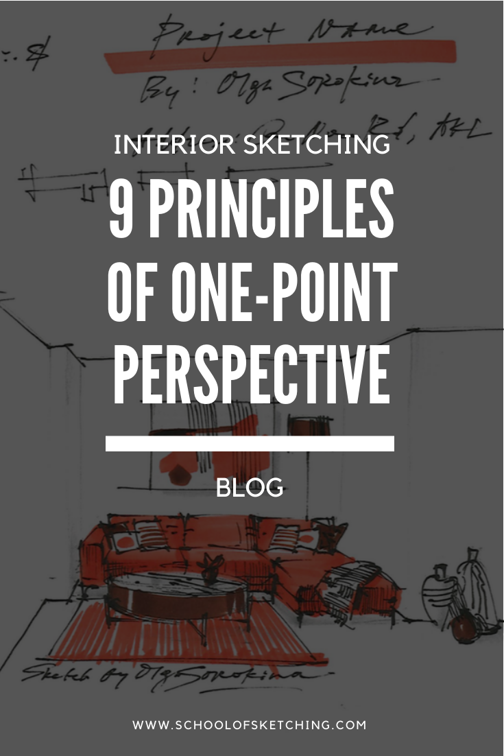 The 9 Principles Of One Point Perspective In Interior Sketching Olgaart888