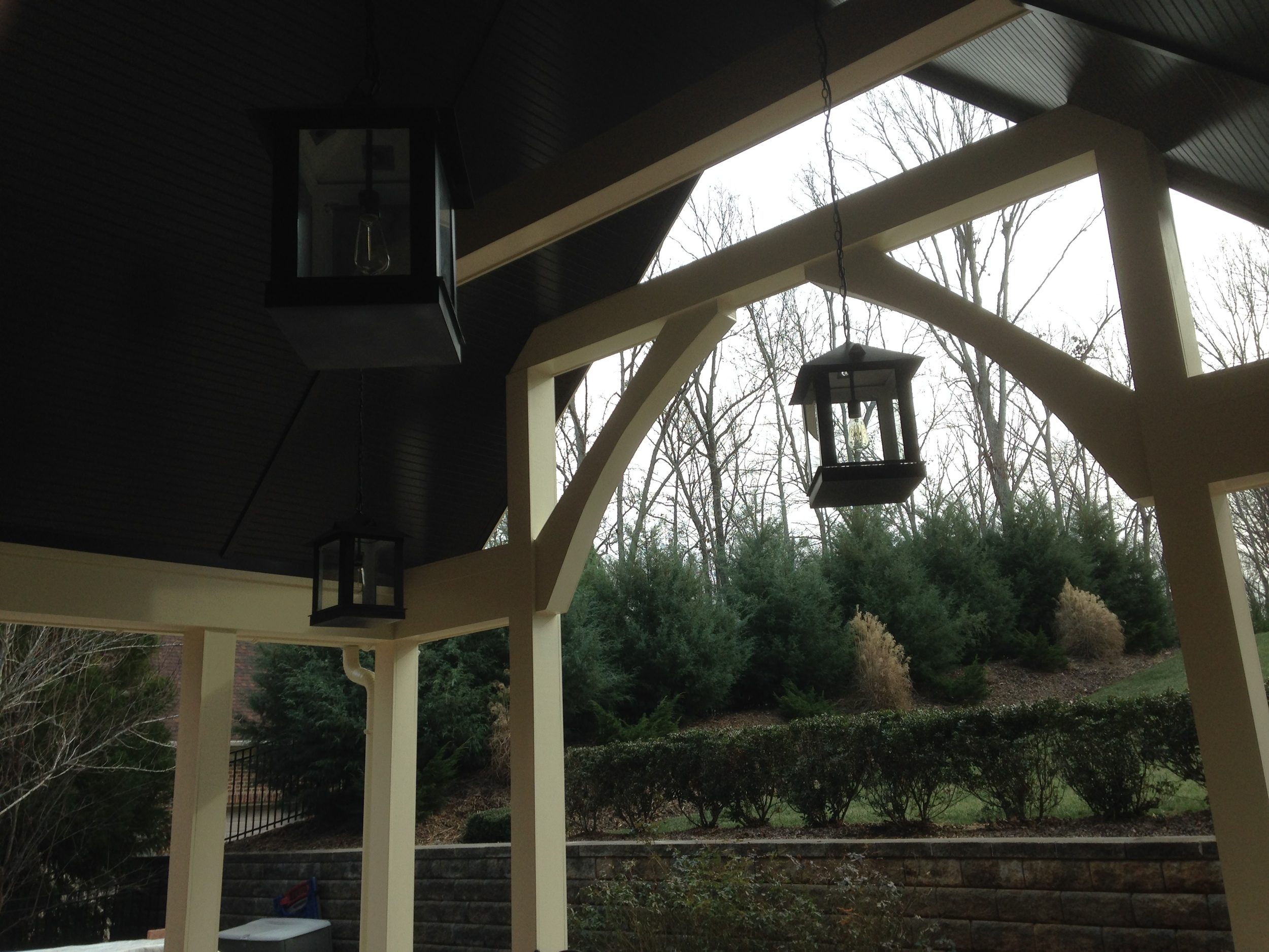 Covered Outdoor Living Area, Lake Wylie, SC, G&H Architect Builders