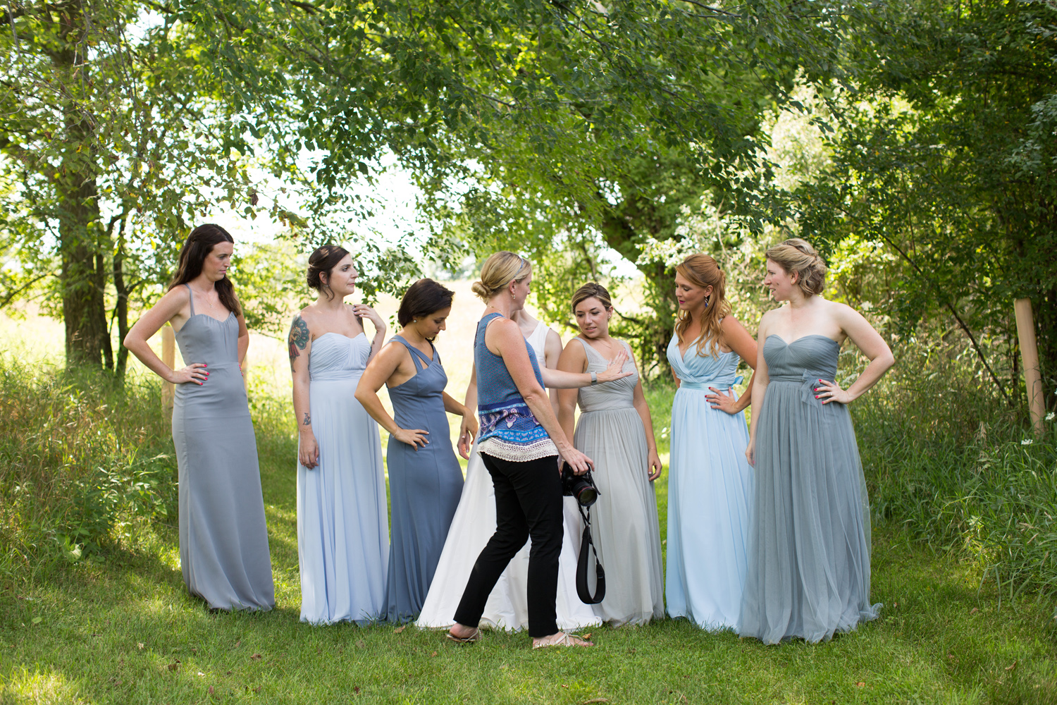 direction as needed, at White Oaks Farm with some lovely bridesmaids