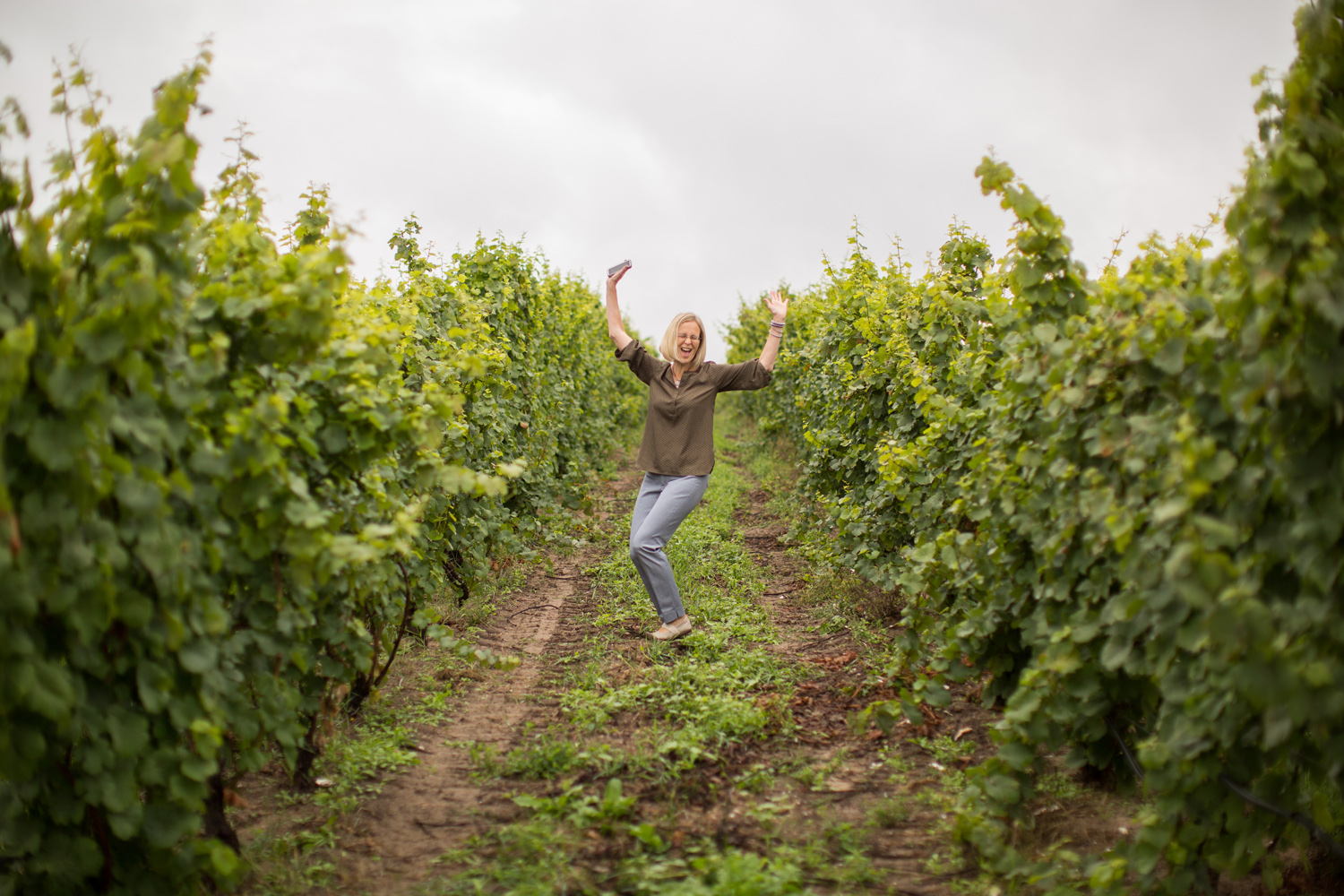 this sums up how we feel about shooting in a) a vineyard b) Traverse City
