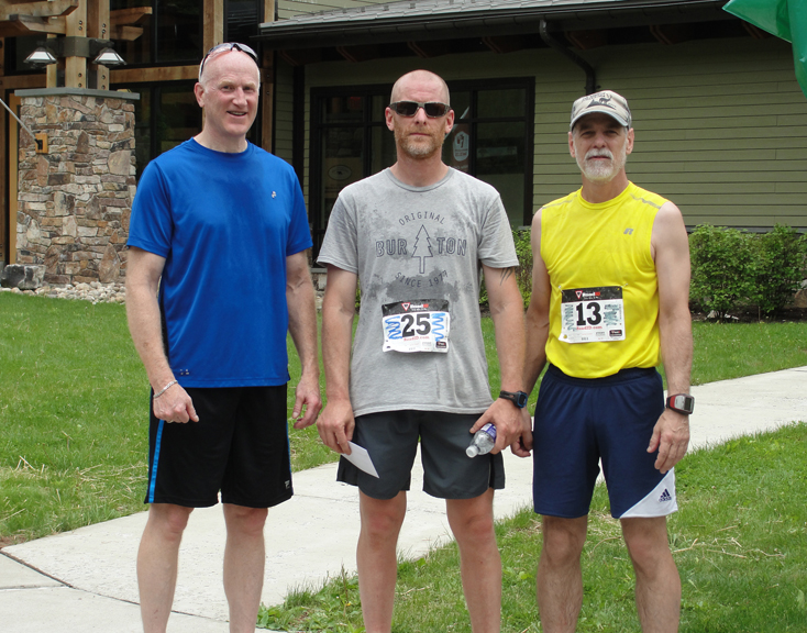 Congratulations to the top 3 finishers at the 1st Annual Run/Walk for Wellness 5k held at Sinnemahoning State Park on May 17, 2015. Pictured left to right are Steve Erway – 2nd place, Jeff Brown - 1st place, and Bill Daly - 3rd place.