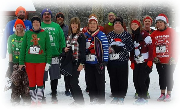 """Ugly Christmas Sweater 5K Run""    Group Photo 2016"
