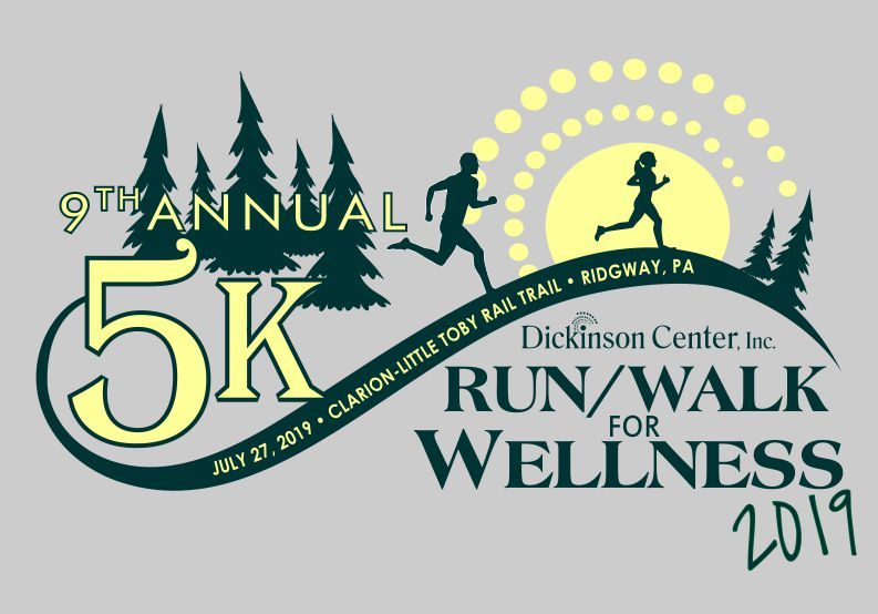 9th Annual Run/Walk for Wellness t-shirt design