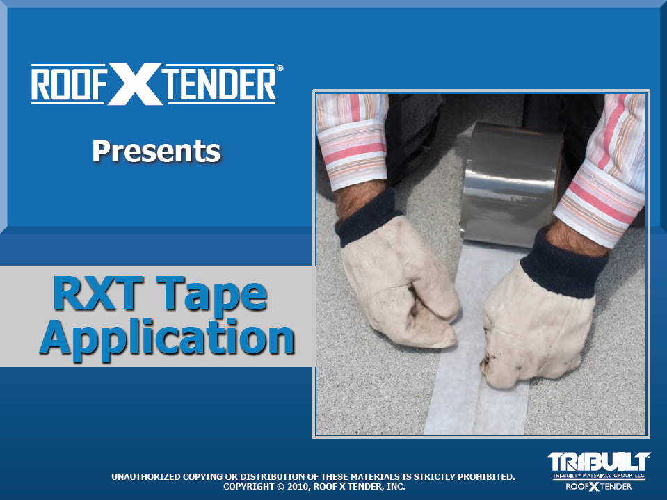 RXT TAPE APPLICATION