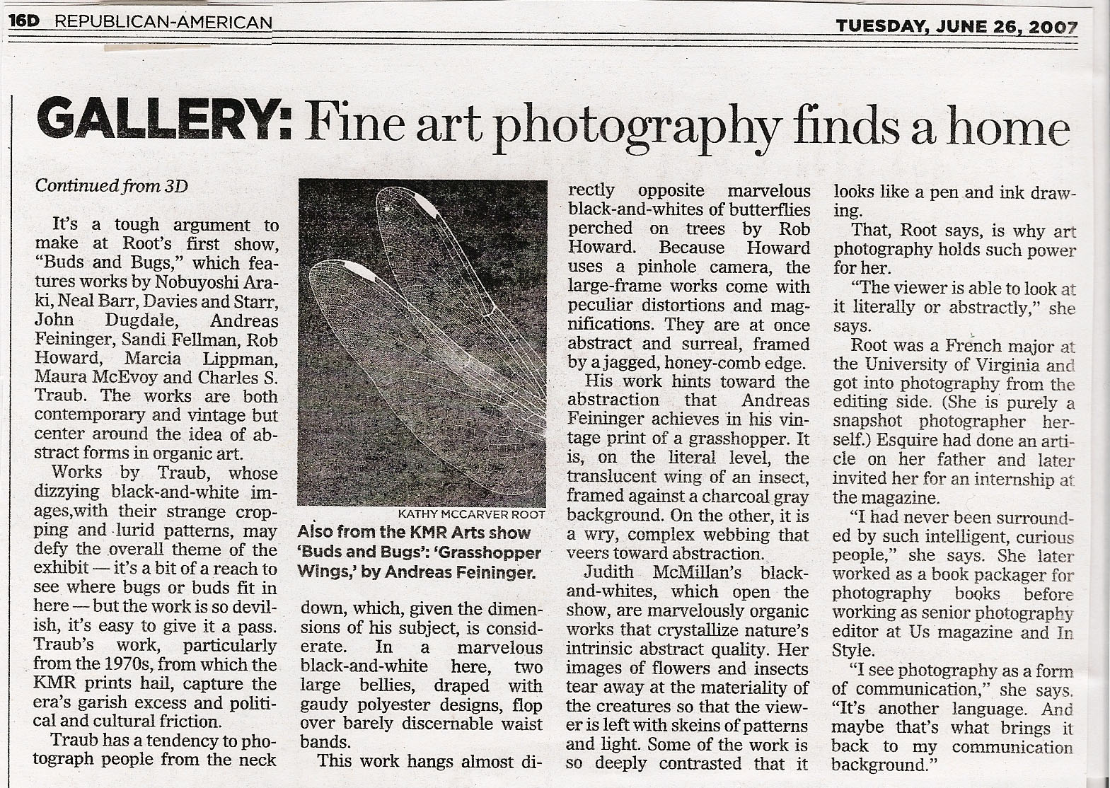 Gallery_ Fine Art Photography Finds A Home. June 26, 2007. Republican American.jpg