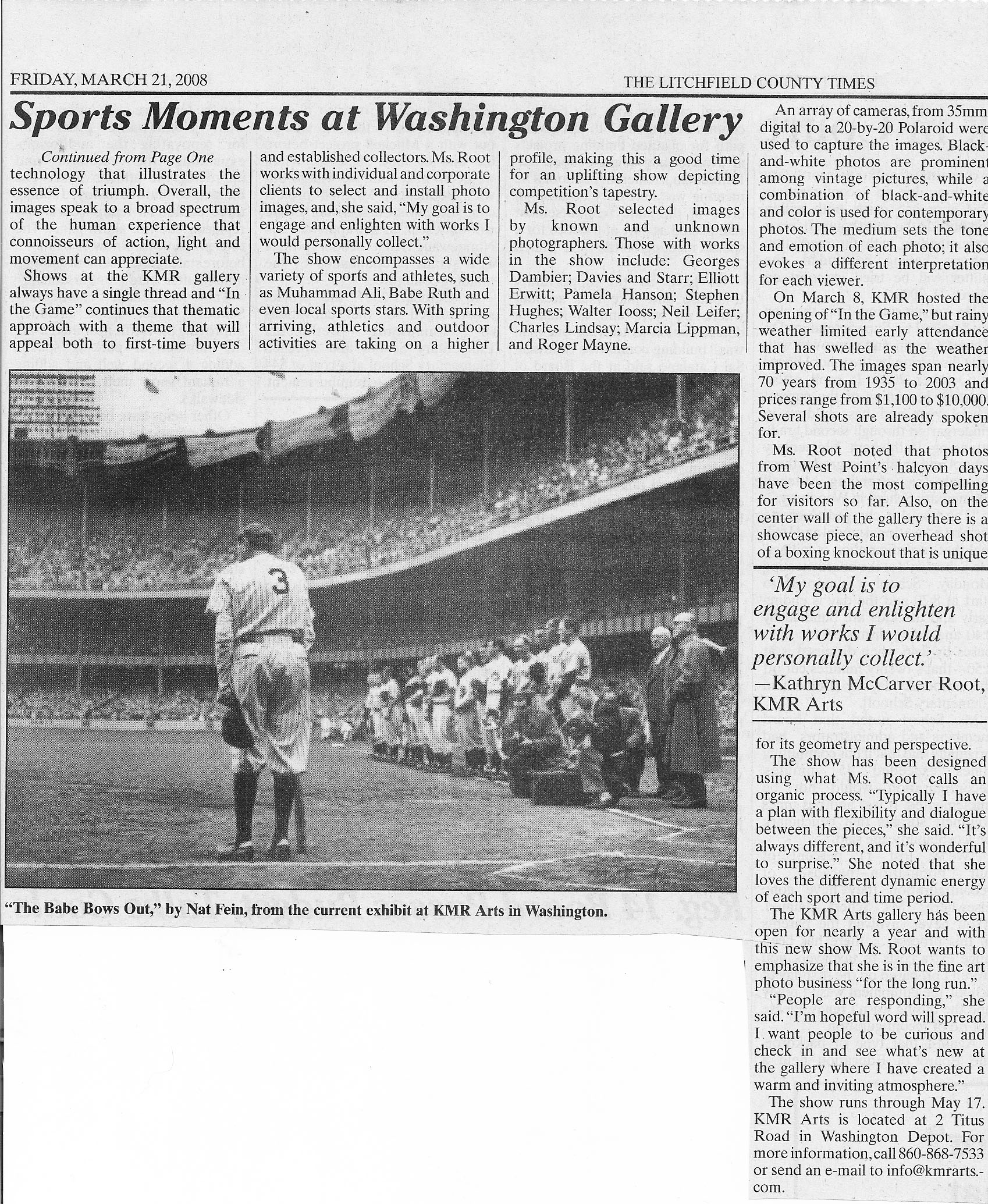 Sports Moments at Washington Gallery. March 21, 2008. The Litchfield County Times. jpg.jpg