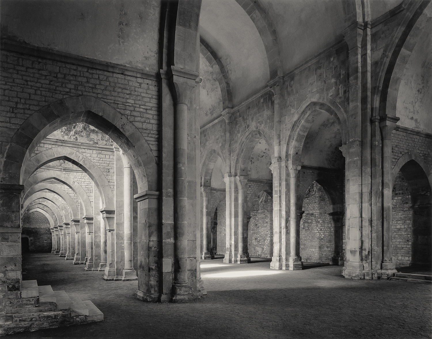 South Aisle and Nave Looking West, Fontenay, 1990