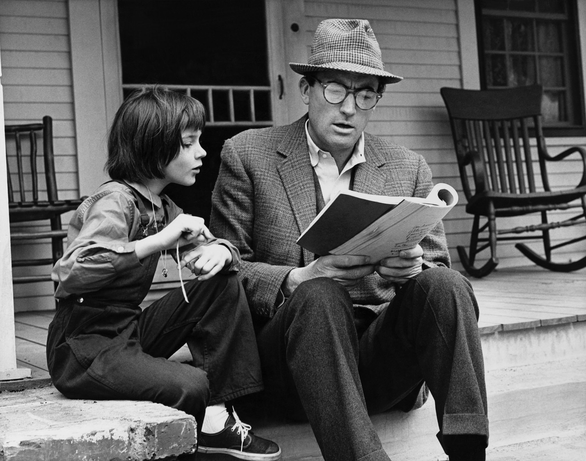 Gregory Peck and Mary Bradham, To Kill a Mockingbird, 1961