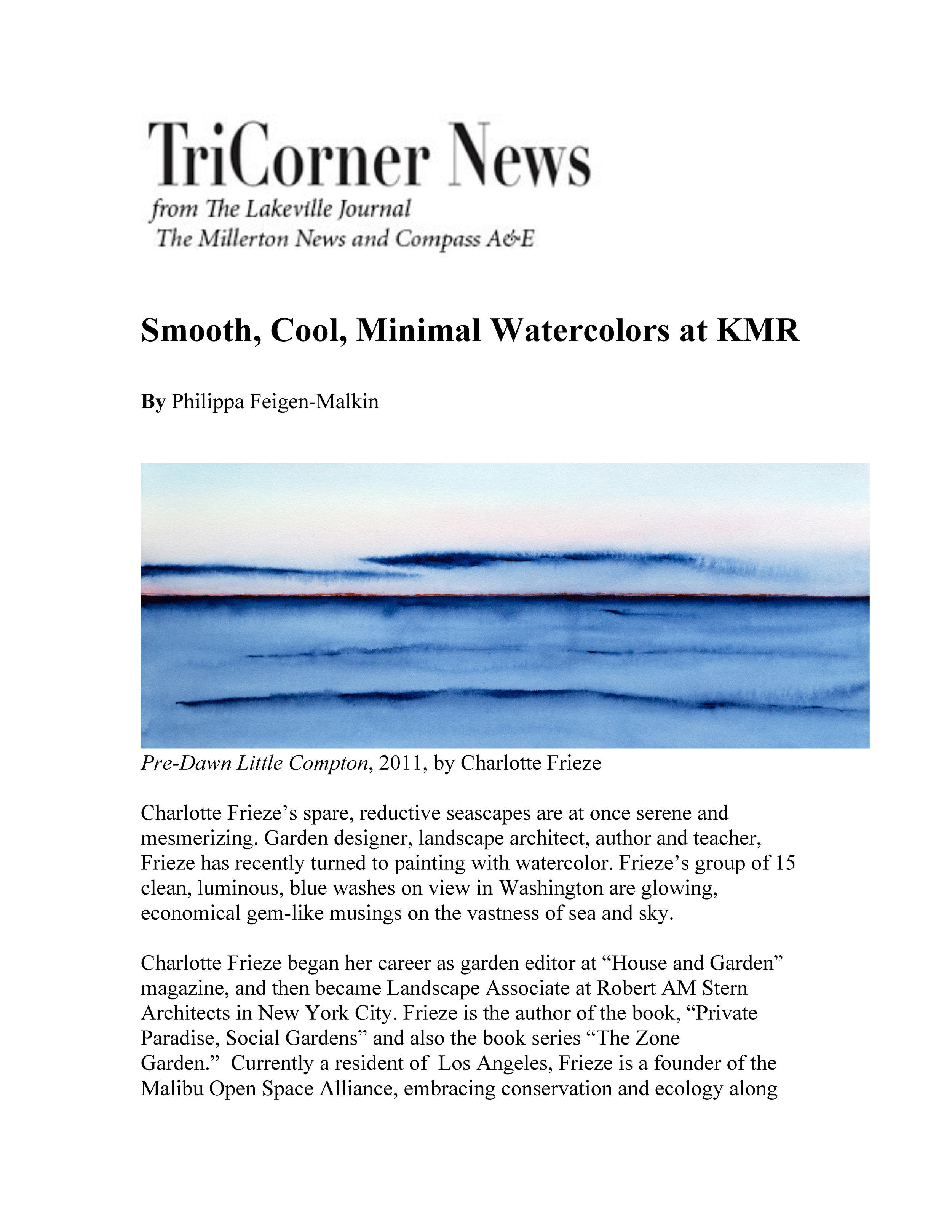 CHARLOTTE FRIEZE @ KMR Arts - Lakeville Journal - Review by Philippa Feigen-Malkin - 2019-04-10_Page_1.jpg