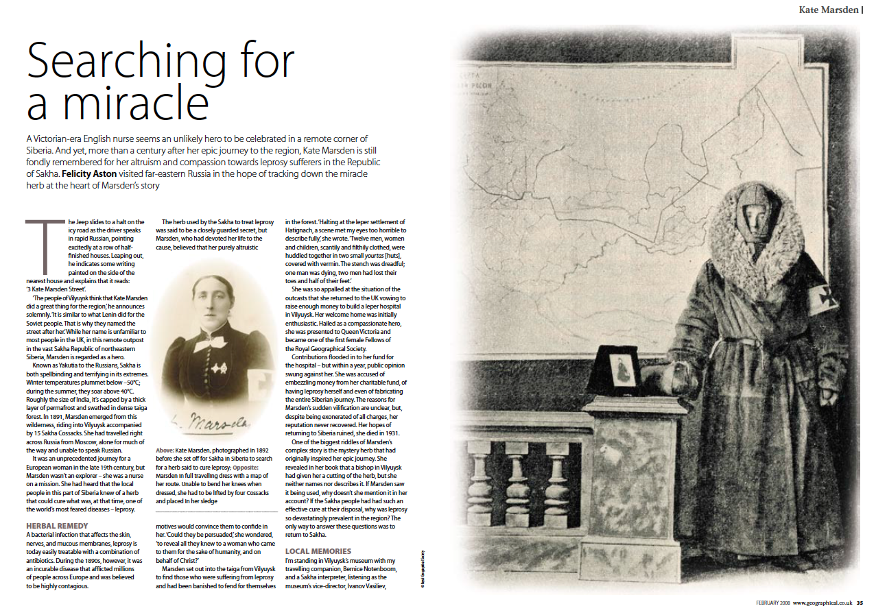 Geographical Magazine: Searching for a Miracle by Felicity Aston