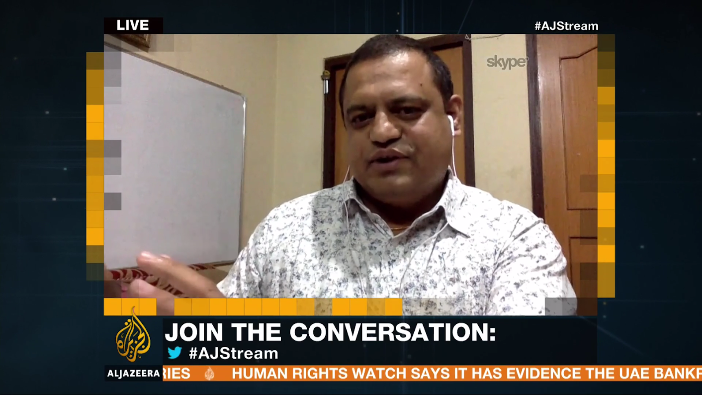 Dr. Dhananjay Regmi, TGT partner, on Al Jazeera's The Stream, 22nd June 2017.