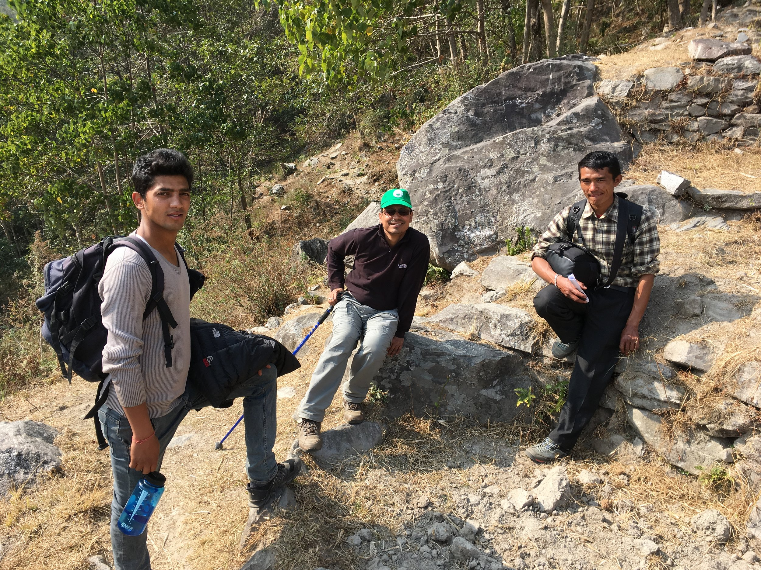 Hari Kumar Kharki with colleagues from Eco Himal and Deusa ARFC in Solukhumbo.