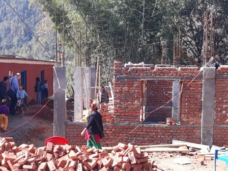 The rebuilding process, for homes and schools has been very slow, nearly three years on from the earthquakes, building work is only just beginning for some. (March 2018)