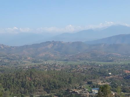 A view of the Himalaya's from Kavre. (March 2018)