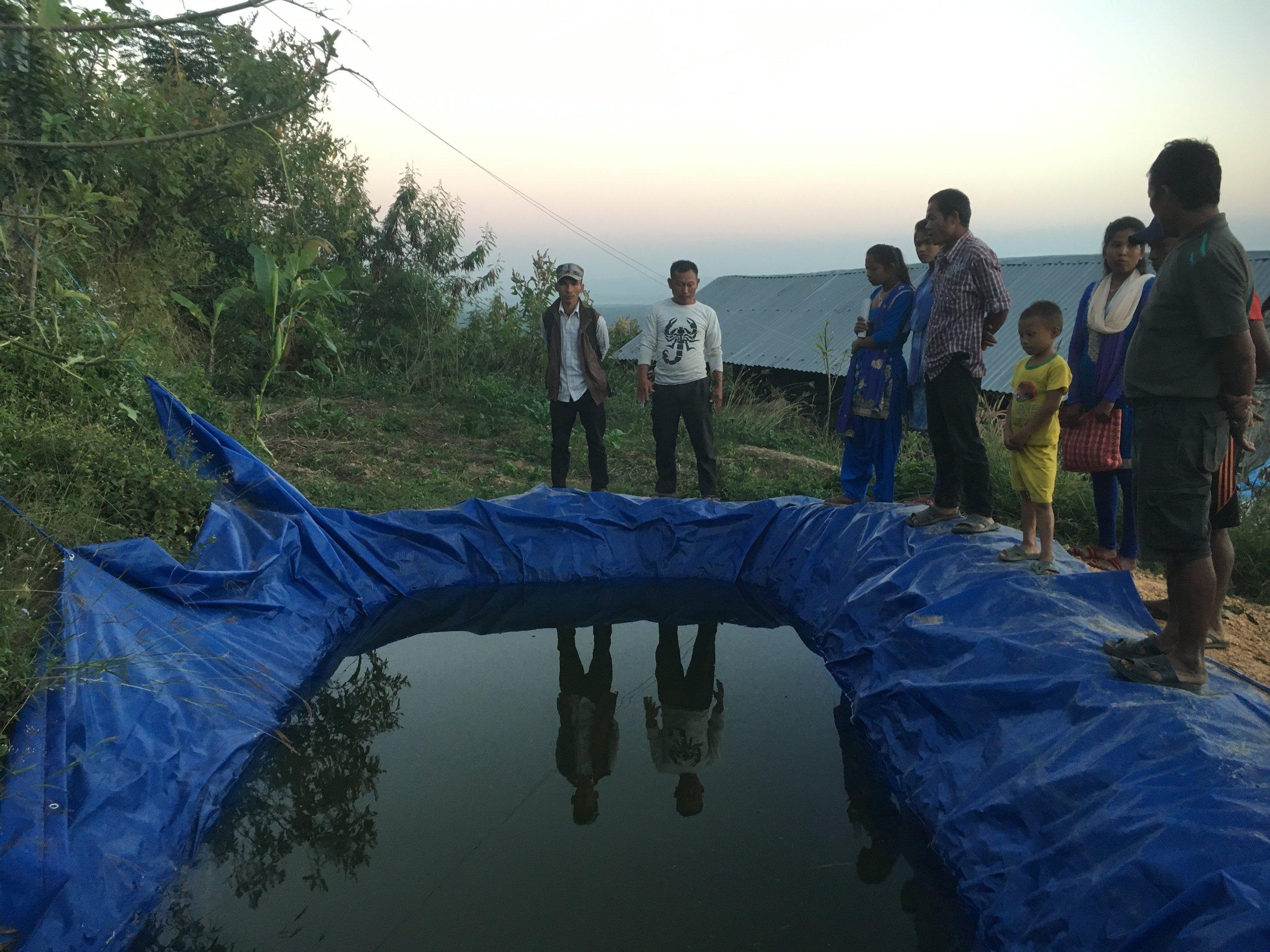 Water harvesting pond.