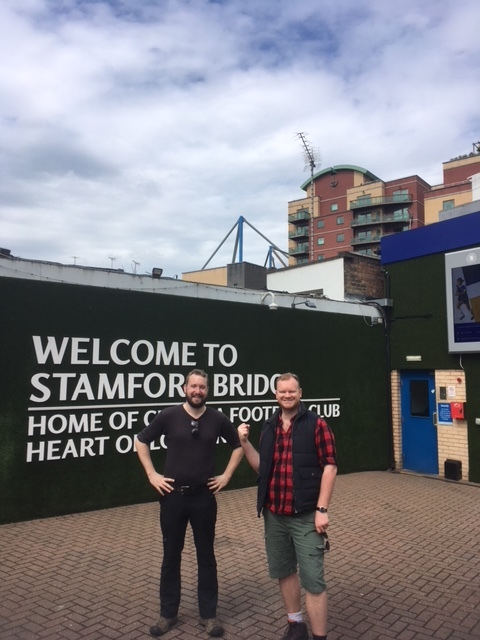 Glyn and Adam at Stamford Bridge
