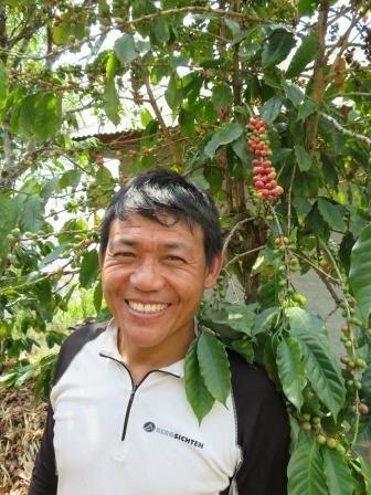Net Kumar with his coffee tree.