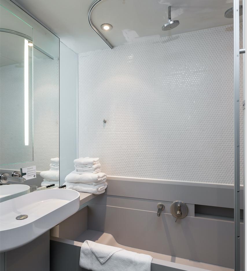 Bathroom in the Queen Suites