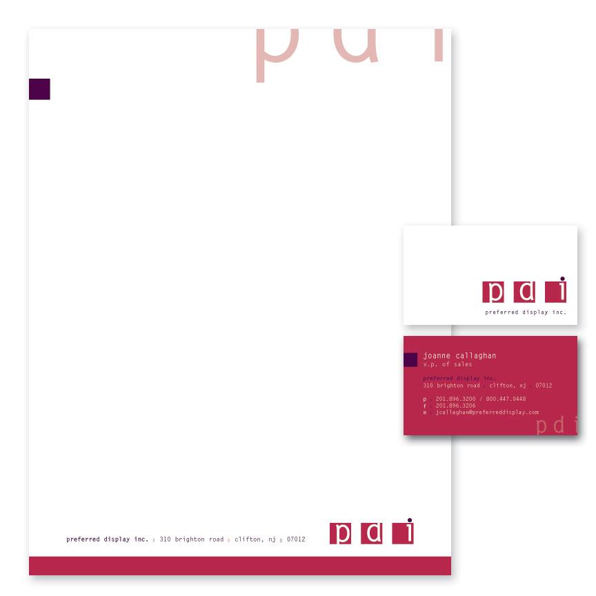 PDI stationery