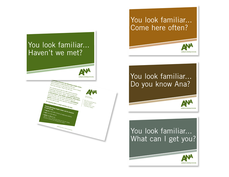 Association of National Advertisers Postcard Campaign
