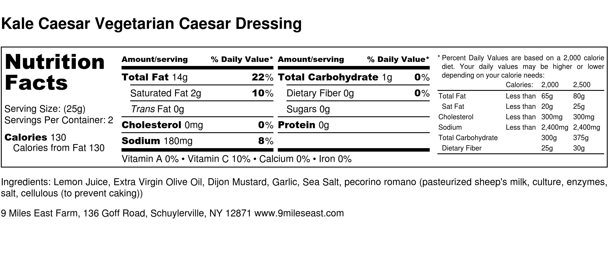 Kale Caesar Vegetarian Caesar Dressing - Nutrition Label.jpg