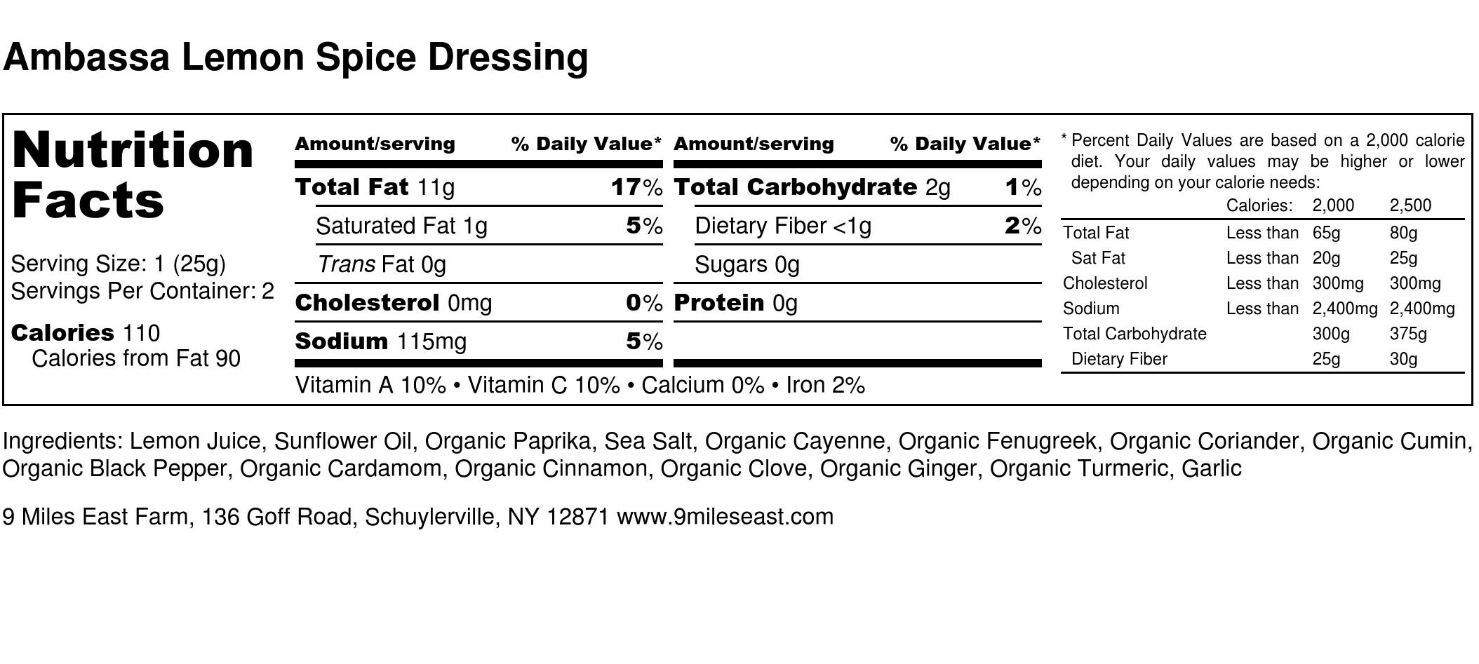 Ambassa Lemon Spice Dressing - Nutrition Label.jpg