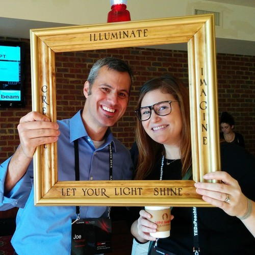 Agency Sparks CEO, Joe, and Director of Business Development, Stephanie at TEDxPT.