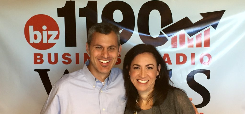 biz 1190 radio host, Dana Barrett and AgencySparks CEO, Joe Koufman