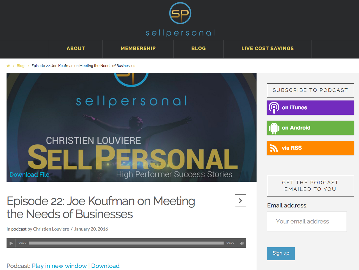 SellPersonal Podcast